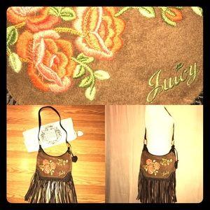 Juicy Crossbody Embroidered Fringe Messenger Bag